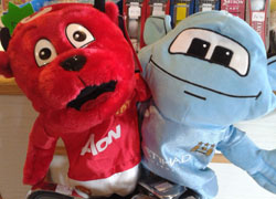 Fred the Red & Mooncity MUFC MCFC Head Covers