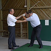 Individual golf tuition with PGA coach at Peak Practice Golf Buxton