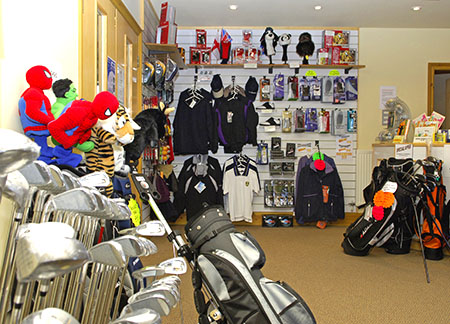 Golfing accessories and equipment - reception Peak Practice Golf driving range Buxton