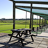 Outdoor bays at Buxton golf driving range derbyshire